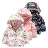 Fashion Girl Kids Padded Outerwear for Children′s Clothing