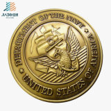 Antique Gold Factory Promotion 3D Emboss Souvenir Custom Military Coin
