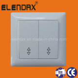 Low Price Residential Electric Wall Switches /Euro Style Flush Mounting Double Wall Light Switch/ABS panel Plate (F6205)