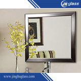 3-6mm Wood Frame Silver Aluminum Decorative Mirror