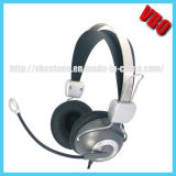 USB Stereo Headphone with Mic, Multimedia Computer Headphone