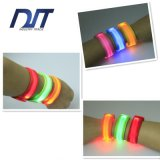 LED Light Flash Blue Wrist Band Outdoor Wrist Security Bracelet