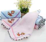100% Cotton Kids Towel with Bear Design Embroidered
