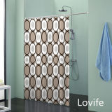 Shower Curtain Bathroom Waterproof Curtain (JG-224)