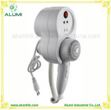 White Wall Mounted Hotel Professional Hair Dryer 1600W
