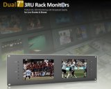 "Dual 7"" 3ru Rack Monitors with Dual 7"" IPS Screens"