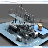 5ton / 24hours Residue Waste Oil Refining Distillate Plant