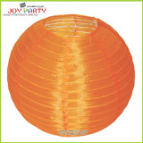 Orange Outdoor Round Nylon Lamp for Halloween Decoration