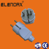 2 Pin Standard Grounding Electrical Power Plug (P7051)