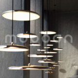 Northern Europe Style Disk Shape Copper Design Pendant Lamp for Dining Room