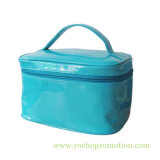 Patent PVC Shiny Vinylic Leather Mirror Surface Washing Makeup Toiletry Cosmetic Bag