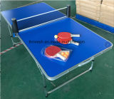 MDF Camper Table with Aluminum Lamp Holder Pingpong Table