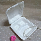 One Time Use Biodegradable Tableware 3 Compartment Disposable Lunch Box