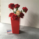 Wholesale Red Color Acrylic Flower Packaging Vase