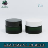 20ml Green Color Frosted Empty Glass Jar