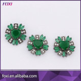Flower Shape Micro CZ Pave Setting Jewelry Set