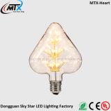 110V 220V E26 E27 3W WW LED Heart Light Bulb
