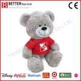 En71 Soft Cuddle Plush Teddy Bear in T-Shirt Stuffed Animal for Kids