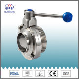 Sanitary Stainless Steel Manual Welded/Threaded Butterfly Valve (DN11850-1-No. RD1308)