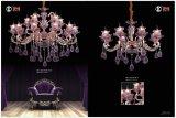 Purple Glaze Zinc Alloy Die Casting Chandelier Light