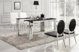6 Seater Square Marble Dining Table
