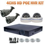 Toesee Brand 4chs 1.0megapixels Poe NVR Kit Including 4 Outdoor CCTV IP Camera