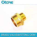 Brass Hex Nipple Reducing BSPT Chromed