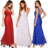 Wholesale Deep V Neck Backless Evening Prom Gowns Dresses (A995)