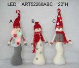 "22""H LED Santa and Snowman Christmas Decoration Light LED-3asst"