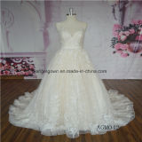 A-Line Sleeveless Lace Latest Bridal Dress