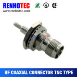 Bulkhead TNC Female Coaxial Connector for Cable Assembly