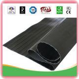 Wide-Ribbed Rubber Sheet Plate Matting Roll, Anti-Slip Flooring Floor Mat