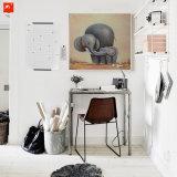 Cartoon Wildlife Baby Elephant Oil Painting