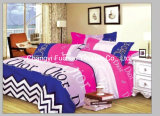 Queen Size Printed Microfiber Quilt Cover Faric for Bedding Set