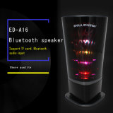 Black Crystal Shell with Colorful Lights Stereo for Mini Loudspeaker