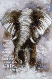 Elephant Animal Aluminum Base Abstract Oil Painting