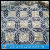 Discount Natural Polished Black/Yellow/White Pebble Stone Garden Mosaic