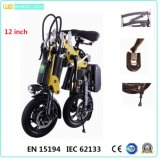 CE 12 Inch Mini Folding Electric Bike with Brushless Motor Assist