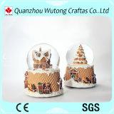 Christmas Lighted Snow Globe Resin Holiday Water Globe Decoraiton