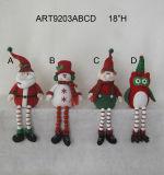 Pompom Legged Christmas Decoration Figurine-4asst