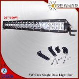 "100W 24"" CREE Single Row Light Bar Truck Offroad"