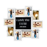 LED Plastic Multi Openning Promotion Gift Collage Decorative Picture Frame
