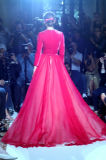 Evening Dress Prom Dress Ball Gown Myriam Fares V-Neck Pink Velvet Custome Wholesale