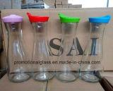 1L Glass Milk Bottle with Plastic Cap