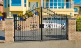 Decorative Double Wings Wrought Iron Security Gates