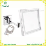 Hotel Single Sided Square Magnifying Mirror with LED Light