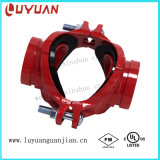 Grooved Mechanical Cross with BSPT NPT Thread for Fire Protection Pipe System