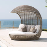 Bird′s Nest Sunshine Lounge Beach Circular Dome Garden Furniture Rattan Sunbed T680