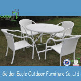 PE Rattan Stackable Outdoor Furniture Cheap Dining Set