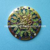 Souvenir Brass Coin with Crystal (Ele-C022)